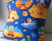 Retro Robots n Spaceman pillow / cushion cover for Boys