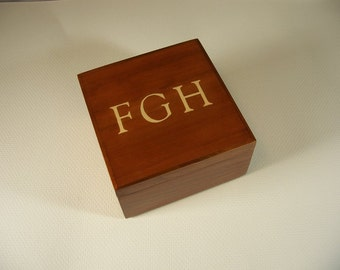Monogram Treasure Box Keepsake Box Wedding Ring Box