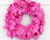 Pink Balloon Wreath, Kids Party Decoration, Baby Girl Shower Decorations