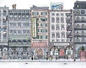 Personalized Custom Cityscape Drawing - Great Gift