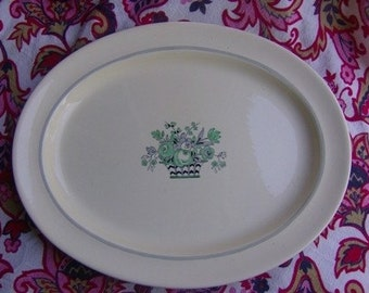 Booths China Vellum Oval Platter 1930s Hand Painted English