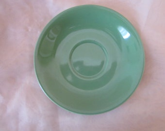 Green Clarice Cliff Demitasse Saucer Royal Staffordshire