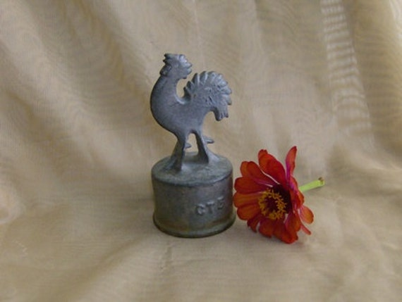 Cox Rooster Cast Metal Fence Ornament Country meets Industrial Chic