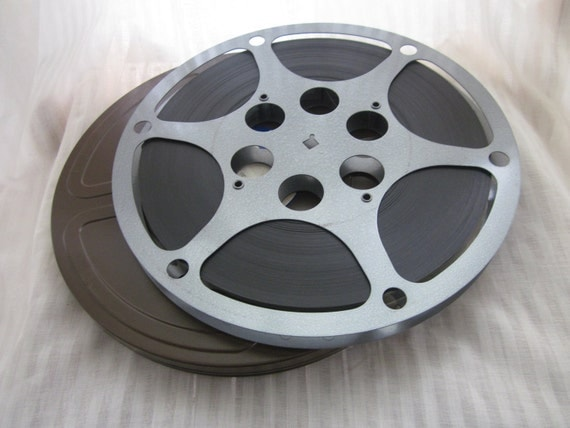 Gray Compco Reel  and Brown Goldberg Canister Vintage Film Included