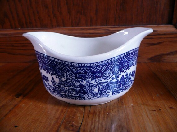 Vintage Blue Willow Gravy Boat or Creamer by Royal China Vintage Blue and White China Tableware Entertaining Mother's Day Gift