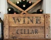 SALE, Wine Crate Cellar sign