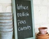 Chalkboard, Sage Green Frame,cottage style