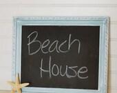 Beachy Chalkboard, seafoam, aqua, beach house