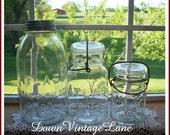 Atlas Clear Jars HALF Gallon, Quart and Pint Sized Vintage Jars