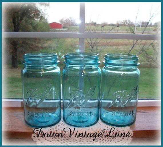 3 blue ball wide mouth mason jars quart size. Black Bedroom Furniture Sets. Home Design Ideas