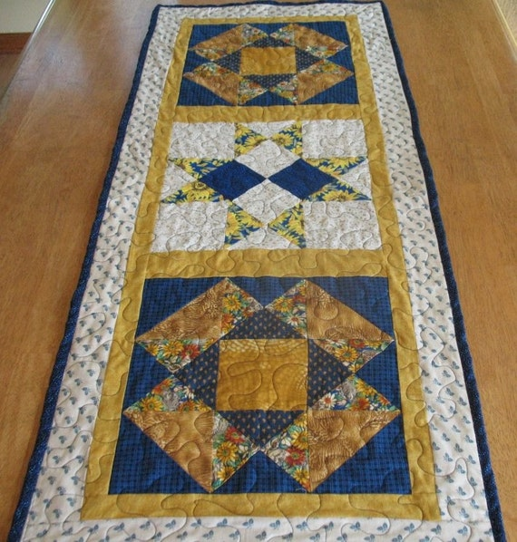 Quilted Sunflowers and Kittens Table Runner