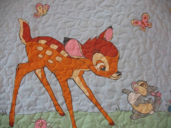 Disney Bambi And Thumper Baby Quilt