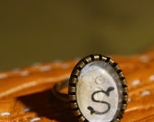 CLEARANCE ITEM: S Monogram Ring