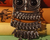 CLEARANCE ITEM: Large Silver Owl Necklace