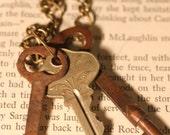 Brass Antique Key Necklace