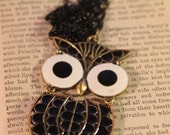 CLEARANCE ITEM: Black and White Owl Necklace