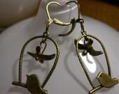 Swinging Bird Earrings