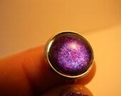 Blue and Purple Nail Polish Ring