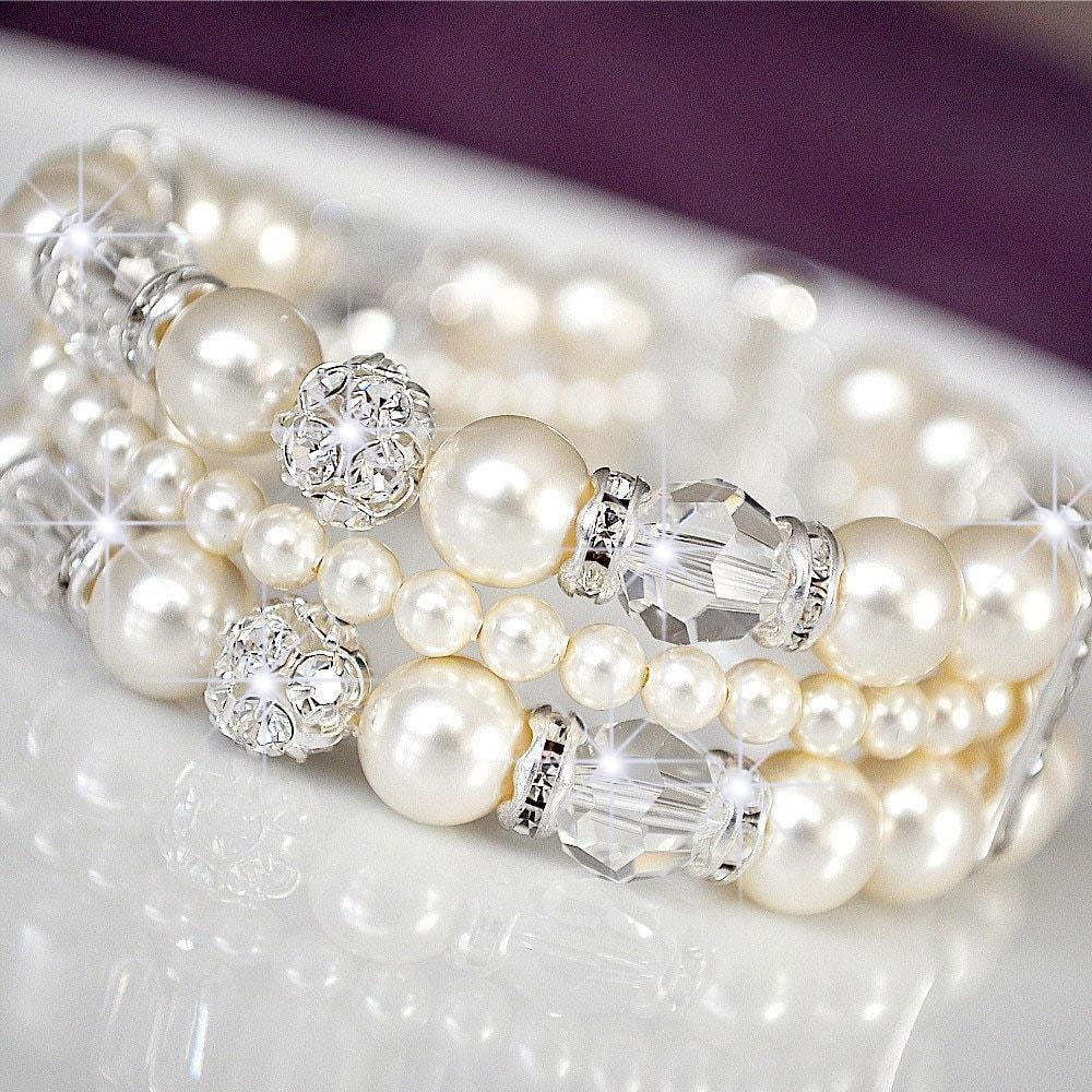 wedding cuff bracelet rhinestone wedding bracelet swarovski