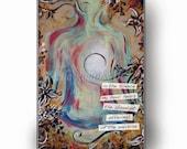 SALE BOGO - Lotus Pose Poetry Yoga artwork print- 5.5x8.5 calming and inspiring poem
