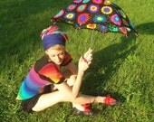 Granny Square Crochet Parasol