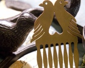 Vintage Brass Bird Hair Comb