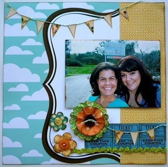 Last One! Cloudy Days 12x12 PreMade Page