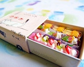 Mini Clothespins Decorated As Cakes - Set of 3