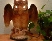 Vintage Owl TV Lamp by Kron of Texans, Inc - HOLIDAY SALE