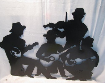 Mountain Music Art Metal Wall Art Silhouette