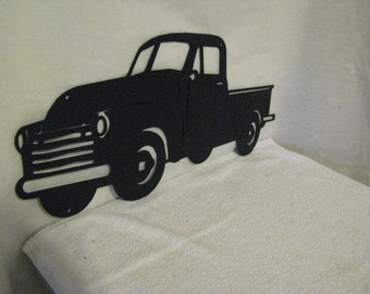 1950's Truck Metal Wall Yard Art Silhouette