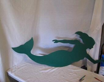 Mermaid 002 Large Metal Wall Yard Art Silhouette