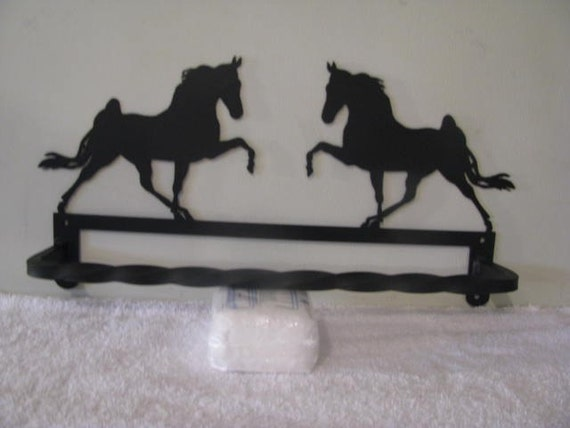 Walking Horse Towel Rack Metal Silhouette Wall Art