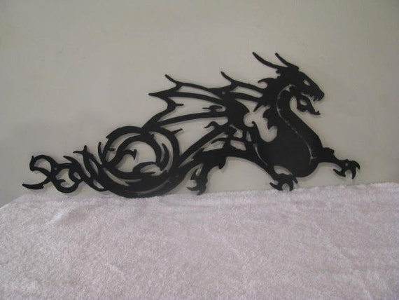 Superieur Dragon Metal Silhouette Wall Yard Art By Cabin Hollow