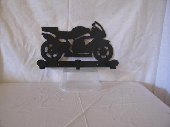 Motorcycle 001 Coat Rack Metal Wall Art Silhouette