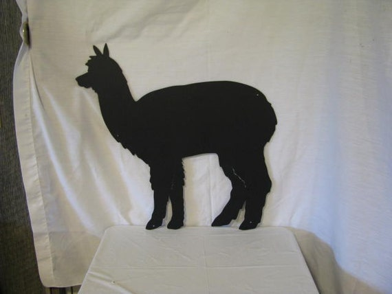 Alpaca 2 09 Metal Farm Wall Art Silhouette