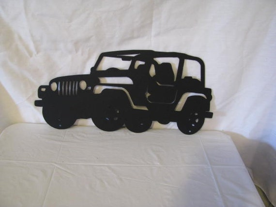 Jeep 002 Large Metal Wall Art Silhouette