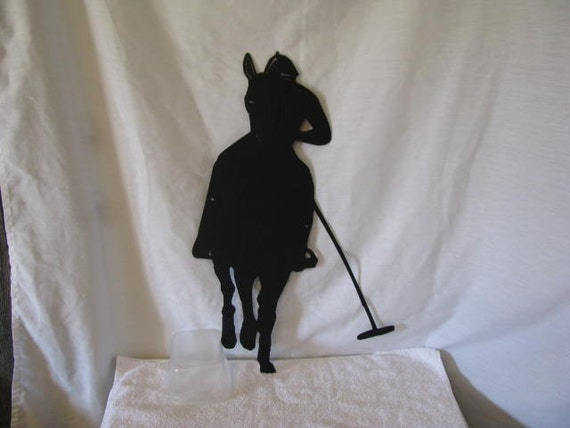 Polo Player Metal Sports Wall Yard Art Silhouette