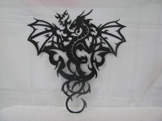 Dragon 2 Metal Wall Art Silhouette