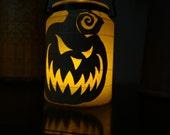Halloween Lantern Scary Pumpkin & Flying BATS 2 in 1