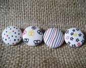 Random Patterns - Set of 4 Fabric Covered Buttons