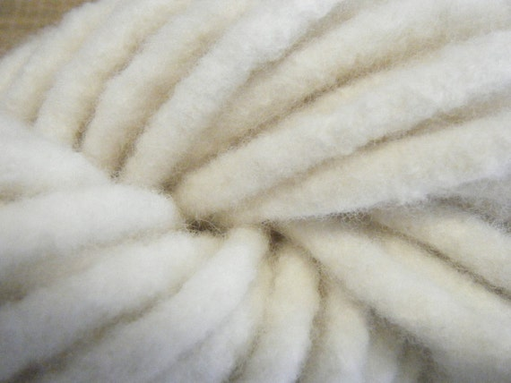 White Clouds Hand Felted Art Yarn/Cord