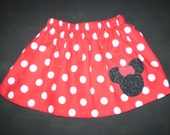 Red Minnie Mouse Skirt  Sizes 6m-6
