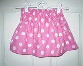 Pink Polka Dot Girls Skirt
