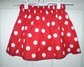 Red Polka Dot  Twirl Skirt