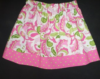 Hot Pink and Lime Twirl Skirt