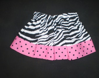 Girls Zebra Print and Polka Dots