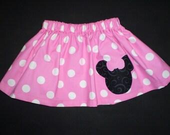 Minnie Mouse Pink Girls Skirt