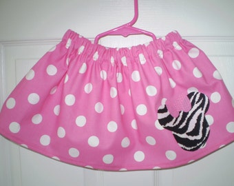 Pink Minnie Mouse Polka Dot and Zebra  Print