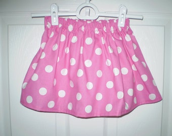 Pink Polka Dot Girls Skirt